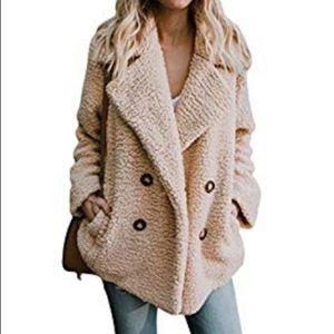 Fuzzy oversized jacket - cream
